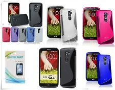 NEW S-LINE TPU GEL CASE COVER FOR LG OPTIMUS G2 D802 &G2 FREE SCREEN PROTECTOR