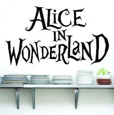 ALICE IN WONDERLAND Quote Decal Vinyl WALL STICKER Home Decor Art letters SQ50