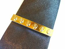 Metalic Gold Tie Slide made with LEGO bricks weddings groom cufflinks pin clip