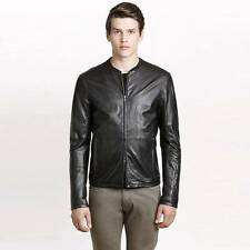 New Armani Exchange AX Mens Slim/Muscle Fit Classic Leather Jacket
