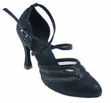 "721152 Black 3.5"" Very Fine Quality Ballroom Latin Salsa Dance Shoes (sz4 -10.5)"