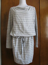 New w/tags Gap Women's Gray/White Striped Dress Size Medium, Large, Xlarge