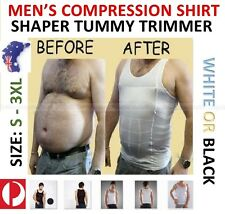 MENS SLIMMING COMPRESSION VEST UNDERSHIRT BODY SHAPERS BELLY TUMMY TRIMMER TOP