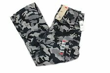 Levis Cargo Black Gridley Camo 124620019 Ace Relaxed Fit Pants Military Trousers