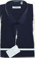 NWT Classic Fit Cotton Blend Long Sleeve Solid Button Down Dress Shirt