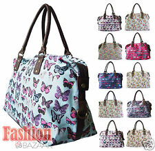 Ladies LYDC Owl Butterfly Large Holdall Tote Hand Bag Weekend Overnight Baby Bag