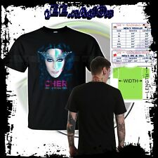 new CHER *Dressed To Kill* Tour 2014 Mens Black Tshirt Concert Music Tee S-3XL