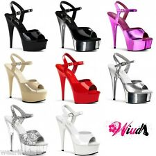 PLEASER DELIGHT-609 STILETTO HEEL LADIES/MENS/CD POLE DANCING SHOES UK 2-11*