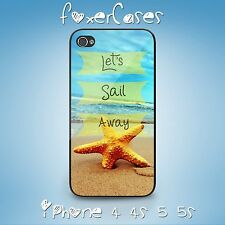 Unique Quote Positive Vibe Let's Sail Away Case Cover for iPhone Samsung Galaxy