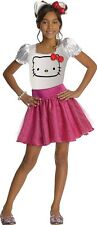 Hello Kitty Face Tutu Dress Child Costume Girls Outfit HK Sanrio Licensed