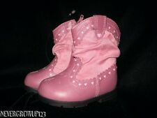 LITTLE GIRLS PINK WESTERN COWBOY~COWGIRL BOOTS~TODDLER 2~3~4~5~NWT