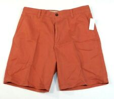 Izod Saltwater Nantucket Red Flat Front Cotton Casual Shorts Mens NWT