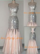 New Mermaid Prom dress Pageant Party Fornal Evening Dresses Stock Size2 4 6 8+++