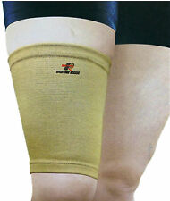 SureSoles Thigh Hamstring Support Protector Sports Football Rugby Cycling BEIGE