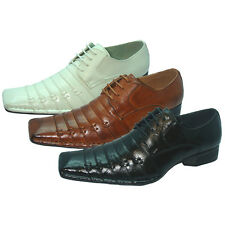 Men's Dress Shoes Italian Style Casual Pleated Lace up Fashion Tapered Toe Sizes