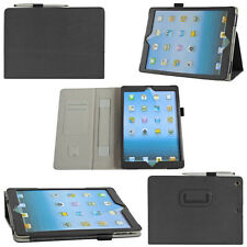 HQ Handle PU Leather Stand Protective Cover Case for Tablet PC w/ Pen Card Slots