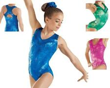 NEW Crackle V Neck Racer Back Sparkle Dance Gymnastics Leotard Child Adult
