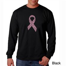Men's Long Sleeve T-Shirt- Breast Cancer Awareness