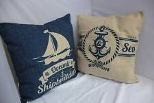 Au Seller Land & Sea Shipbuilders Ocean Heavy Duty Cotton Cushion Cover Pillow