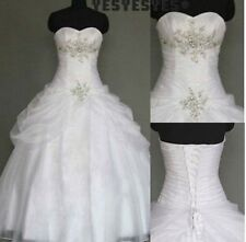 white/ivory wedding dresses Gown Party Bride dress Gown Size: 6 8 10 12 14 16