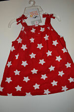 Carter's Girls Infants 2 PIECE OUTFIT SET  Size 6 M  NWT Red With Stars