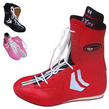 ZstarAX Leather Boxing Boots Boxing Shoes Long Anklet Boots Juniors & Adults