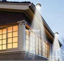 2×Solar Gutter Light Fence Lamp Water Resistant Switch 3LED Lamp NEW