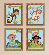 Curly Monkey Tails, Baby Nursery Art, Prints, No More Monkeys Jumping on the Bed