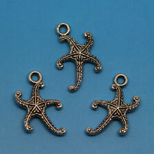 wholesale Lot Fashion exquisite beautiful Two-sided starfish charms Diy pendants