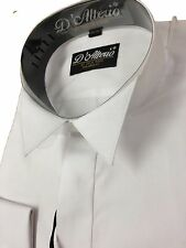 """X/LSleeve Men's White or Ivory COTTON RICH Wing Collar Dress Shirt 14.5-19.5."""""""