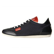 New Mens Cruyff  Recopa Classic Trainers - Navy / Red 100% Leather