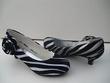 New Zebra Party Shoes For Girls (youth). Many Sizes.