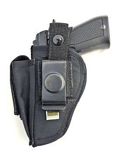 Bersa Thunder 83 and 85 | Nylon OWB Belt Gun Holster with Mag Pouch. Made in USA