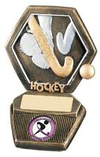 NEW HOCKEY RESIN ANTIQUE GOLD TROPHY AWARD Free Engraving & Own Club/School Logo