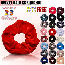 New Ladies Women Girl Large 15cm Velvet Hair Scrunchies Elastic Gymnastic Choice