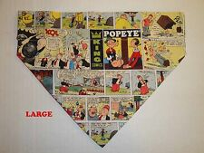 Over Collar Slide On Pet Dog Cat Bandana Scarf Popeye the Sailor Man Olive Oil