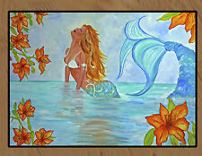 Mystical Mermaid by Alecia Floormat  20 ounce loop style from Original Art