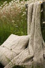 Throw and Cushion Covers - 100% Pure British Wool. Made in the UK