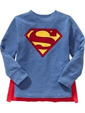 NWT Old Navy DC Comics Winged Superhero Costume Superman Cape Tee T-Shirt  NEW