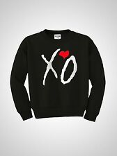 XO HEART THE WEEKND DRAKE HIPHOP UNISEX MENS WOMENS CREW NECK SWEATSHIRT