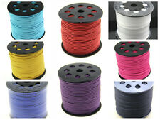 8 COLORS 3mm x 1.5mm Faux Suede Cord Leather Lace Jewelry Making Beading Thread