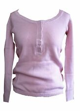 "BRAND NEW "" REDOUTE "" 8 10 12 14 16 18 Pink Knitted Boat Neck Jumper 100% Cotton"