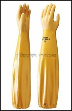 5 x Pairs Showa 772 Nitrile Dipped Gloves Long Sleeved Chemical Oil Gauntlet PPE