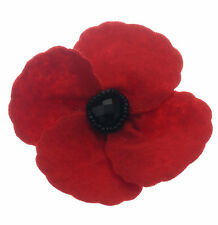 NEOGLORY EXCLUSIVE HANDMADE RED FELT REMEMBRANCE DAY POPPY BROOCH POPPY FELT RED