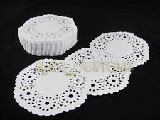 "DOILIES PAPER WHITE ROUND LACE CRAFTS 4"" - 12.5"""