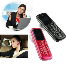 Mini Keyboard Bluetooth Headset Support SIM Card Ear-Hook Dialer Mobile Phone