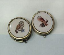 """""""Vintage Owl"""" Oval Compact Mirrors."""