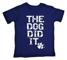 The Dog Did It Funny Cute T-shirt Boy Girl Top Gift Clothes Present