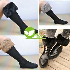 Japan Style Winter Snow Socks With Synthetic Fur Boot Socks dint