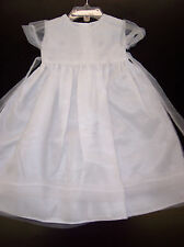Christening/Dedication Gown with matching hat sizes 0-3 to 6-9 month